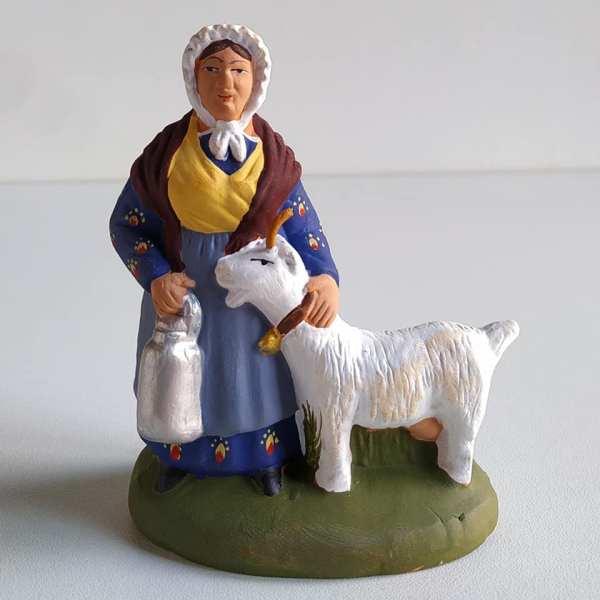 Laitière à la chèvre santons de provence