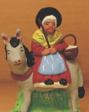 Margarido sur son âne santons Volpes