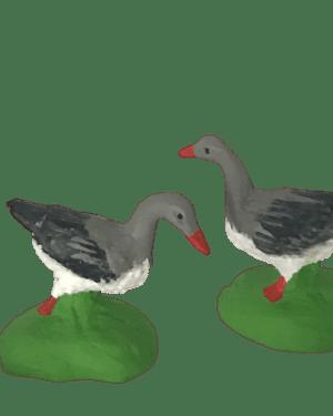 Oie grise santons de provence