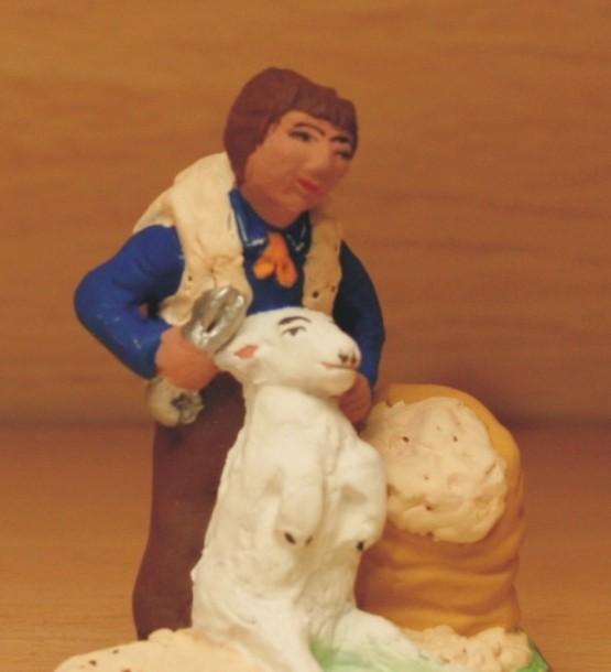 Tondeur de moutons santons Volpes