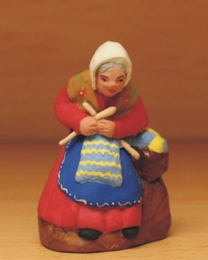 Tricoteuse santons Volpes
