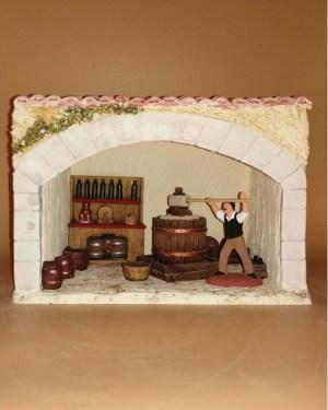 Halle vigneronne décor de crèche