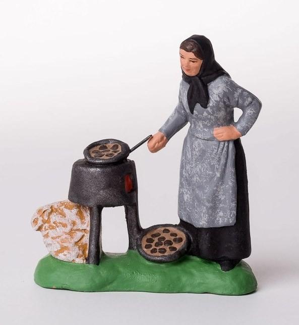 Femme corse aux châtaignes santons Campana