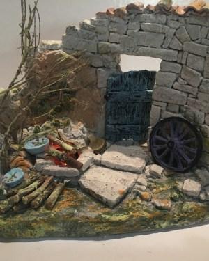 Feu de camp santons de provence