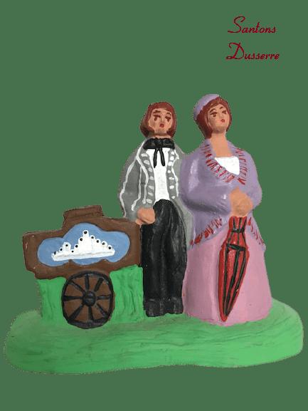 Joueurs d'orgue de Barbarie santons Dusserre