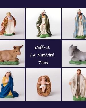 Coffret Nativité - santons Campana 7 cm