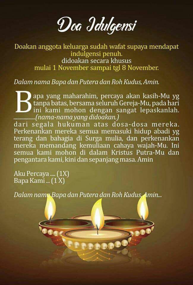 Doa Koronko dan Indulgensi Arwah - Home | Facebook