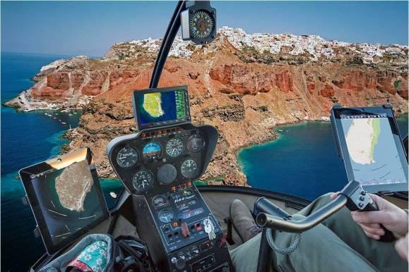 santorini helicopter tour