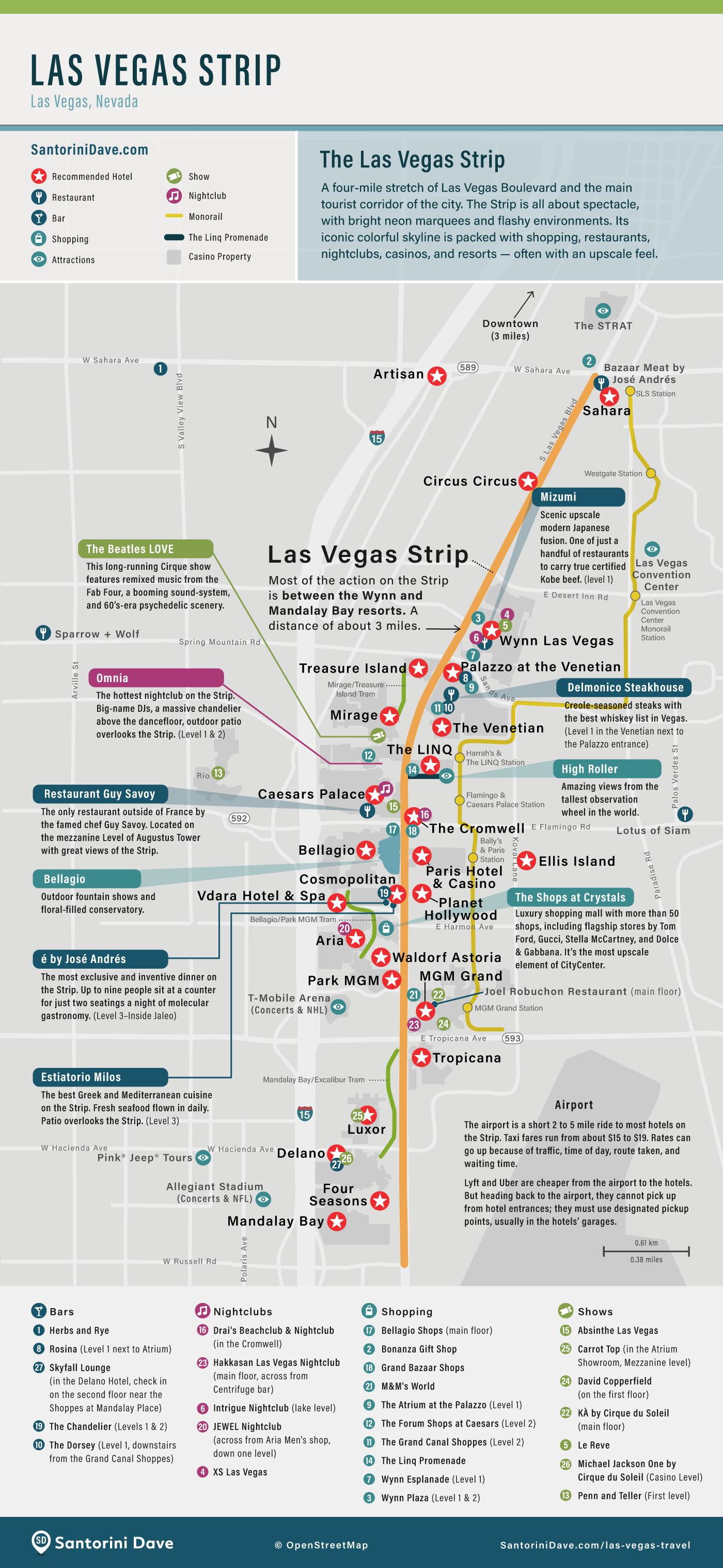 Sunset Strip Map : sunset, strip, Vegas, Strip