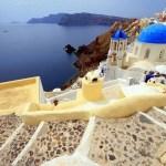 The amazing stairs of Santorini