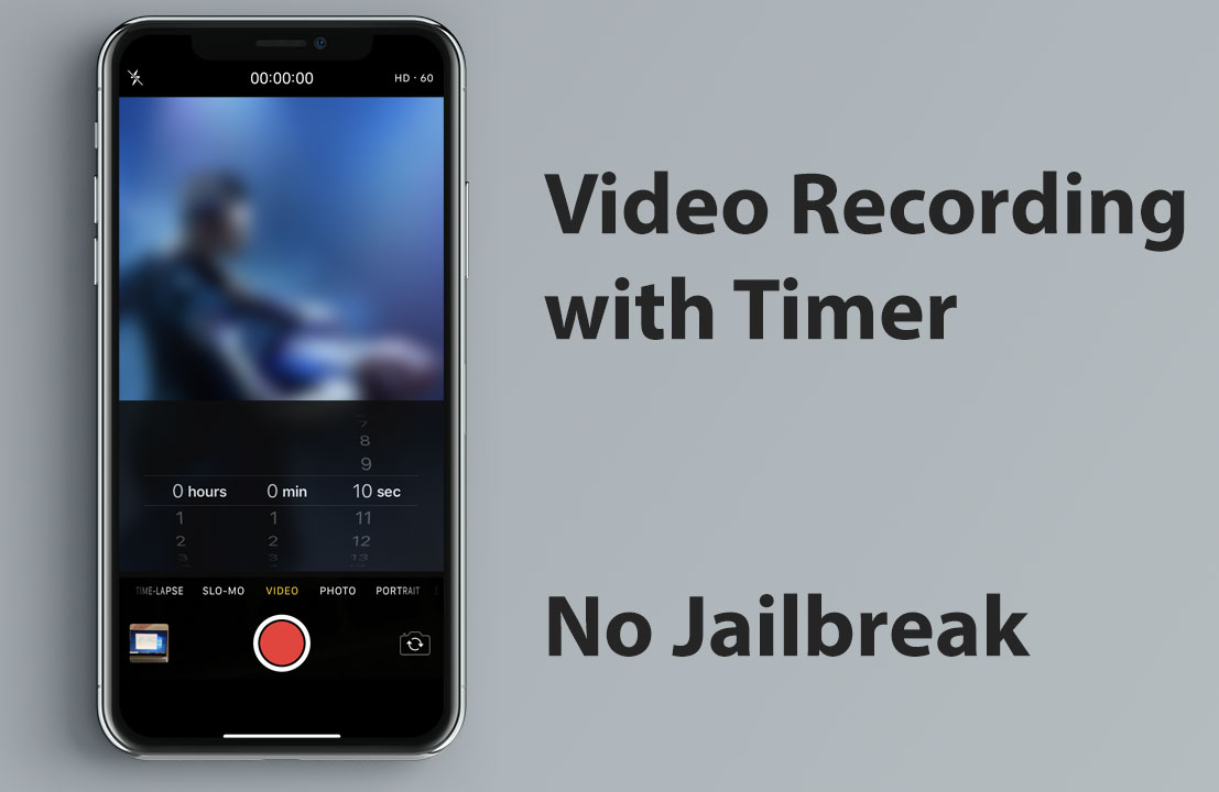 How to stop video recording with timer in iPhone without Jailbreak