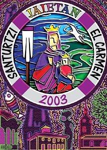 Cartel Fiestas Carmen 2003