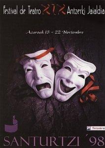 Cartel festival teatro 1998