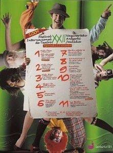 Cartel festival teatro 2001