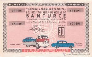 billete rifa 1962