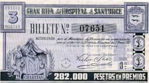 Billete rifa enero 1950