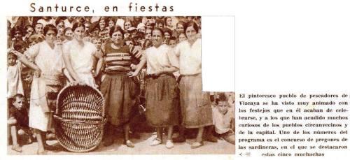 Concurso de pregoneras de pescado en Santurce en 1933