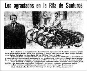 Este año, por fin, se repartió el premio de la casa de la rifa. Se la llevo un tal Vicente Montero Salgado de San Sebastián.