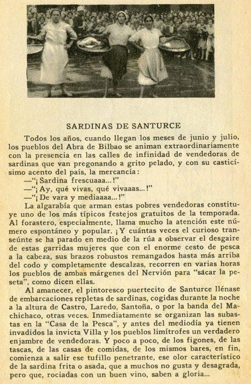 libro de texto y lectura con foto de sardineras 1935