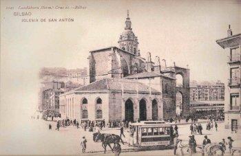 Tranvia-Urbano-de-Bilbao-tranvia-de-Mulas-en-San-Antón-Postal-comercial-fondo-MVF-668x433