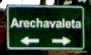Placa Calle Arechavaleta en Montevideo
