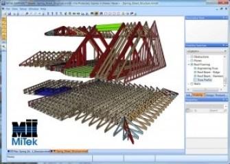 Santvarinių konstrukcijų gamykla. Projektavimas vykdomas programa RoofCon