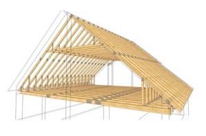 Mansardinio stogo santvaros inovatyvi statyba www.santvaros.lt