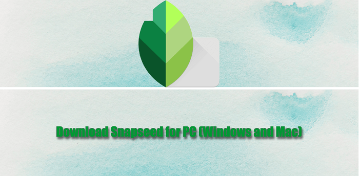 Download Snapseed for PC (Windows and Mac)