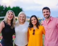 Os organizadores do evento, Carol, Patricia e Leonidas Ferraz da Monte Agudo com Moniky Bittencourt da Check in 4 Wine