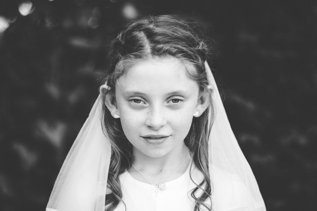 communion portrait photography, first holy communion dress day portrait kildare photographer