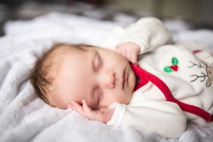 baby boy asleep, newborn, photo, portrait