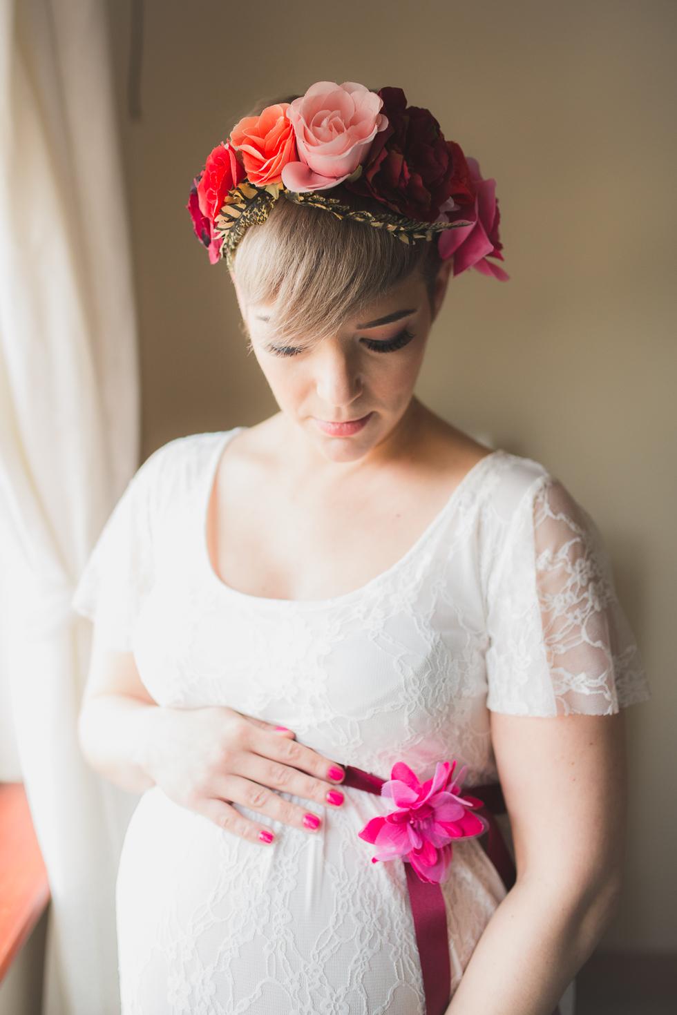maternity portrait, window light
