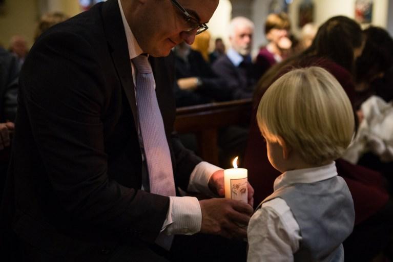 godfather, baptism, candle, christening