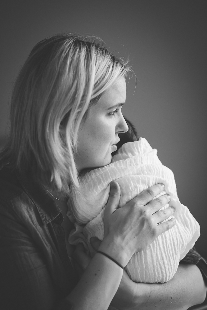 mother, baby, newborn, comforting, cuddle