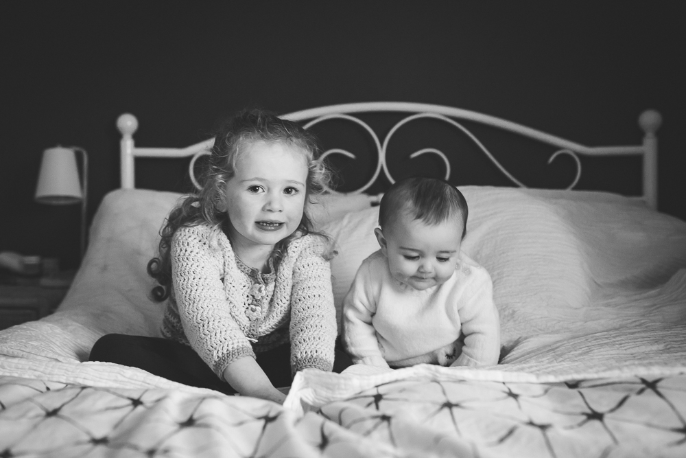 baby portrait, portrait, children's photography, laughing, smiling, child portrait, black and white, saol nua photography, siblings, sisters