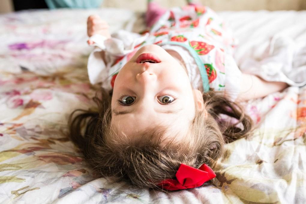 girl, sister, upside down, portrait