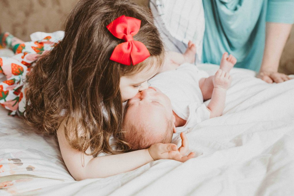 newborn, baby, sister, brother