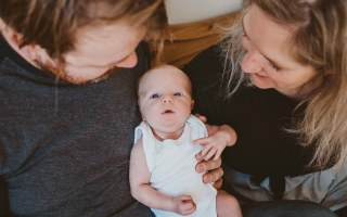 baby portrait with parents