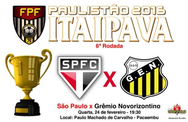 São Paulo x Novorizontino