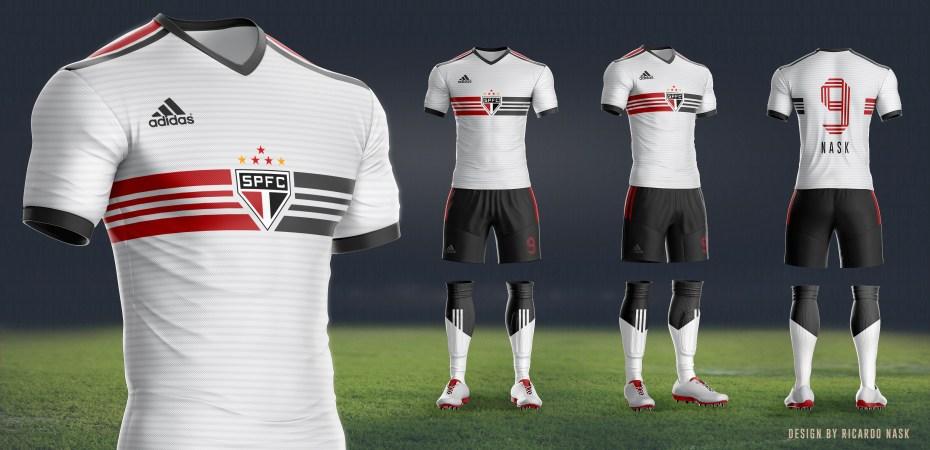 f3bb05b431647 Design de uniformes novos  Adidas e São Paulo – SãoPaulo.Blog