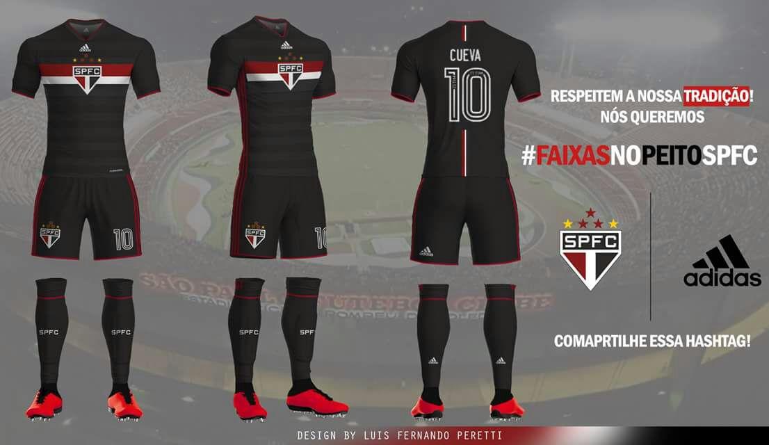 7ced675af21ce Design de Uniformes Novos  Adidas e São Paulo – Uniforme 1