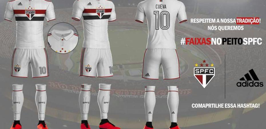 Design de Uniformes Novos  Adidas e São Paulo – Uniforme 1 b072bc82d9ead