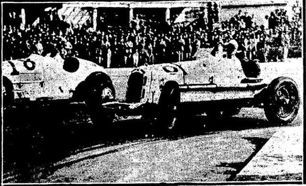 Manuel de Teffé (à direita) em plena corrida.