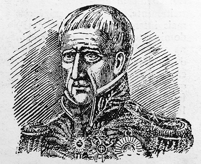 Na ilustração, José Arouche de Toledo Rendon
