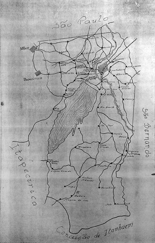 Mapa de Santo Amaro em 1930