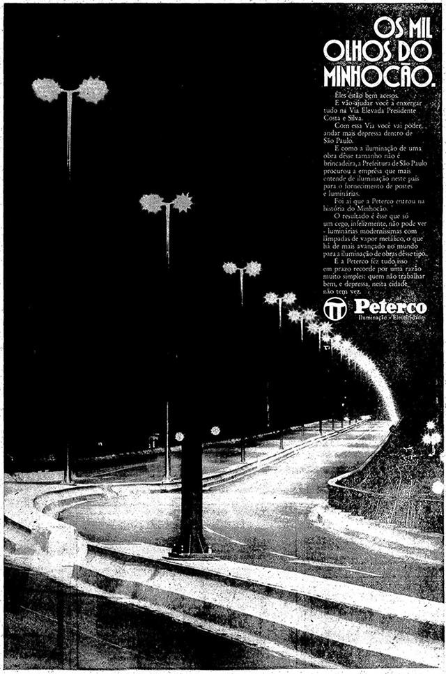 Peterco, responsável pela iluminação do elevado
