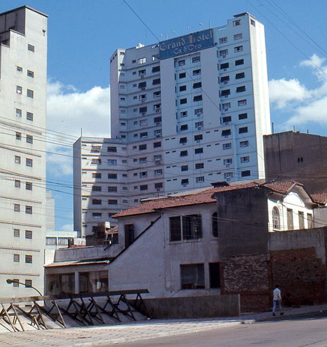 O antigo Hotel Cad'Oro, que não existe mais