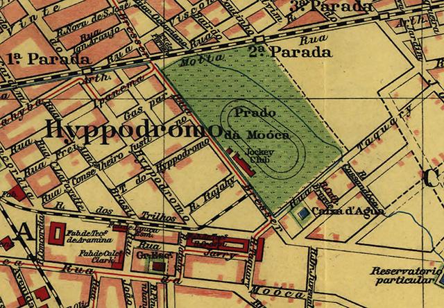 Mapa dos arredores do hipódromo em 1913 (clique para ampliar)