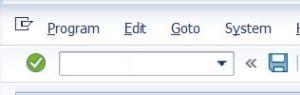 SAP command input box