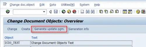 Generate CDO Update Program